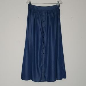 Christopher & Banks petite chambray maxi skirt